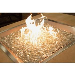 Stainless Steel Crystal Fire Burner Square photo