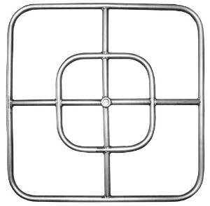 Stainless Steel Square Fire Ring – 24″