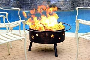 Starlight Steel Wood Fire Pit