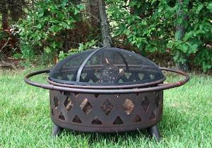 Sunnydaze Bronze Crossweave Fire Pit, 30 Inch Diameter photo