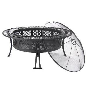 Sunnydaze Diamond Weave Fire Pit, 40 Inch Diameter photo