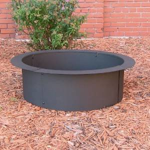 Sunnydaze Fire Pit Rim, Make Your Own in-Ground Fire Pit, 27 Inch Diameter photo