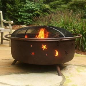 Sunnydaze Large Cosmic Fire Pit, 42 Inch Diameter photo