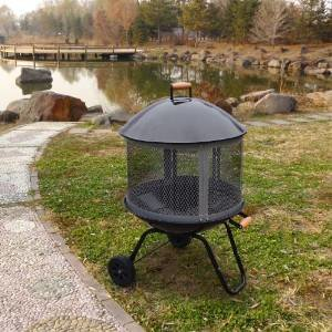 This Versatile Outdoor Fire Pit Brings Charm and Ambiance to Your Porch, Patio or Outdoor Living Space. This Fire… photo