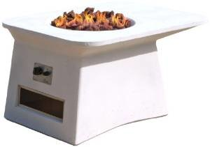 Transcontinental Group Modern Fire Pit, White photo