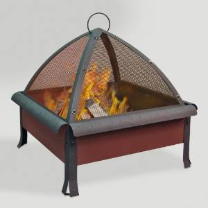 Tudor Fire Pit, Terracotta Finish