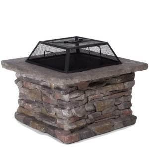 Tundra Square Natural Stone Finish Fire Pit photo
