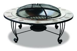 UniFlame Endless Summer WAD506AS 45 Inch Outdoor Firebowl, Grey Finish photo