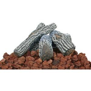 Uniflame Lava Rock and Log Kit for Propane Fire Pits photo