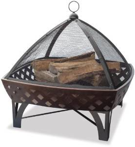 UniFlame Outdoor Fire Bowl with Lattice, Oil Rubbed Bronze photo