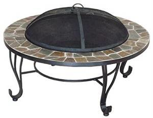 well traveled living 61091 Four Seasons Courtyard, 34″, Stone Rim Fire Pit photo