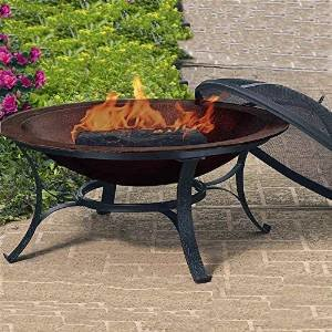 Woodstream Coropration FB6132 Round Cast Iron Copper Finish Fire Bowl photo
