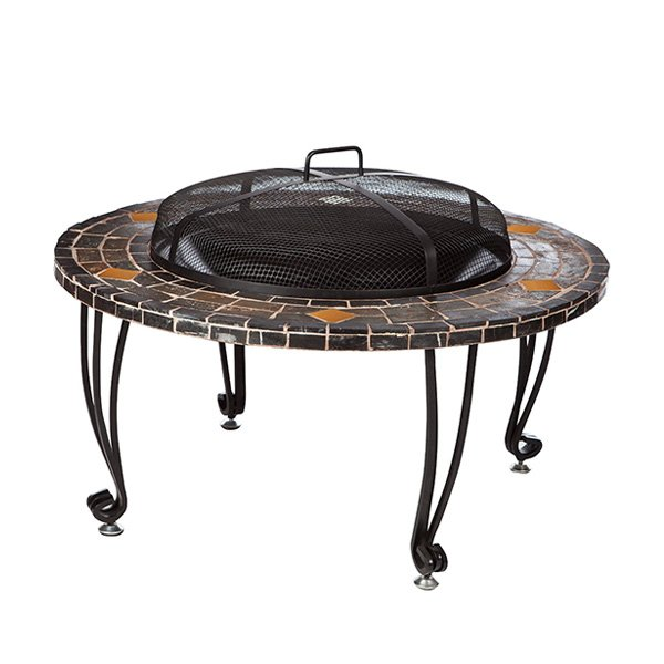 AmazonBasics Natural Stone Fire Pit with Copper Accents, 34-Inch photo