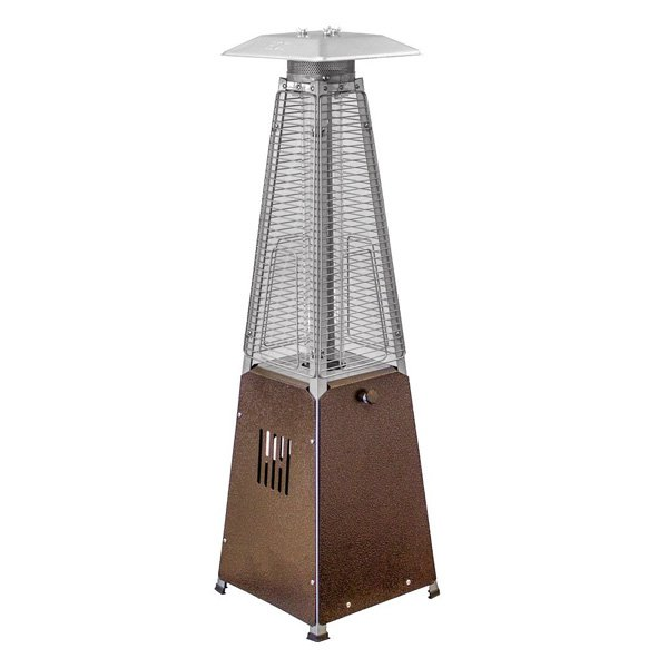 AZ Patio Heaters HLDS032-GTTHG Portable Glass Tube Patio Heater, Bronze photo