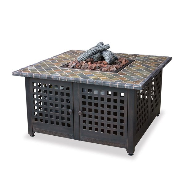 Blue Rhino GAD860SP LP Gas Outdoor Firebowl with Slate/Marble Mantel photo
