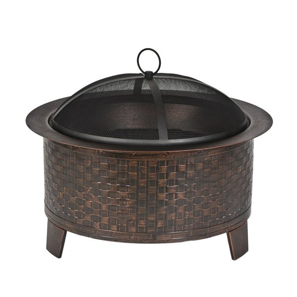 CobraCo Woven Base Cast Iron Fire Pit photo