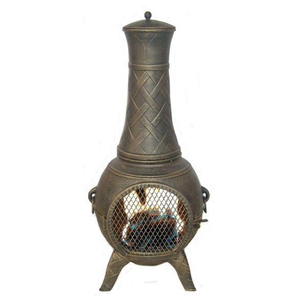 Deeco CP DM6035J-AA Western Basket Weave Jr. Chiminea photo