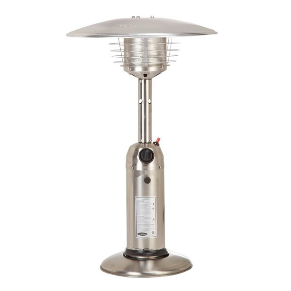 Fire Sense Propane Table Top Patio Heater, Stainless Steel photo