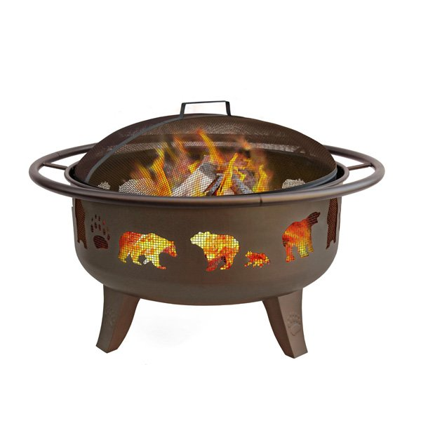 Landmann 23875 Fire Dance Bear and Paw Fire Pit, 30-Inch photo