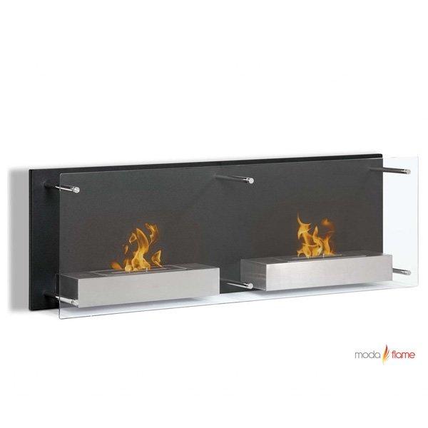 Moda Flame Faro Wall Mounted Bio Ethanol Ventless Fireplace photo