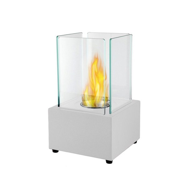 Moda Flame Pavilion Tabletop Firepit Bio Ethanol Fireplace White photo