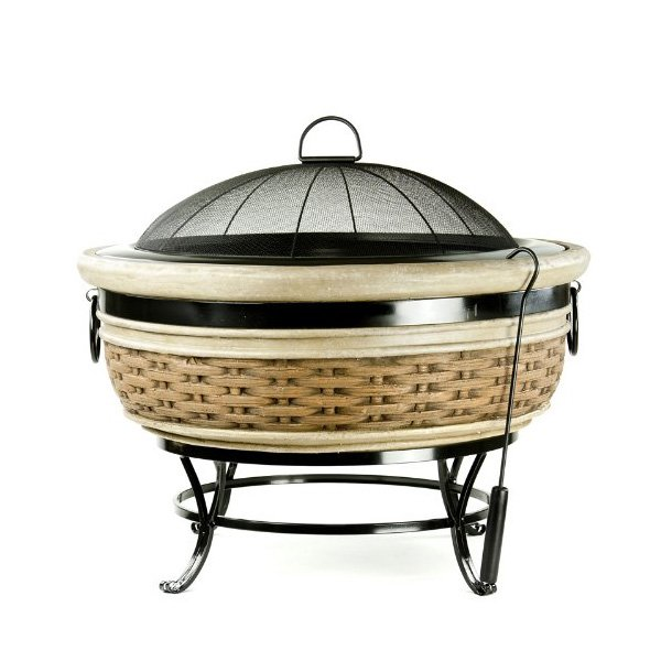 Micro World Magnesia Rattan Wicker Fire Pit photo