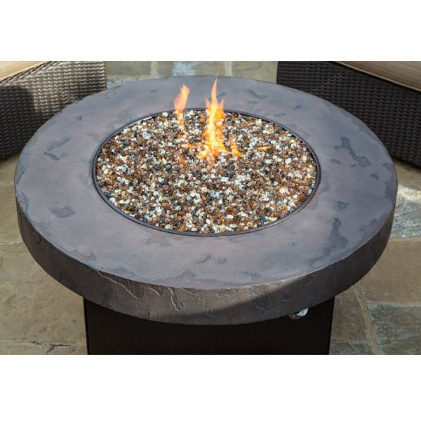 Oriflamme Savanna Stone Gas Fire Pit Table (38″ Diameter) photo