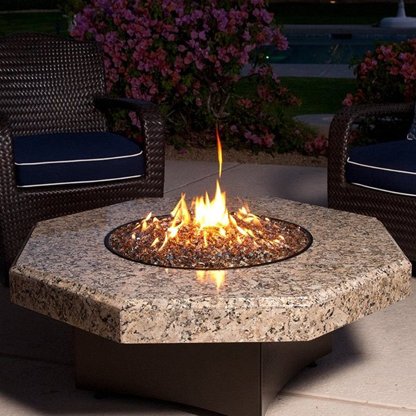 Oriflamme Gas Fire Table – 45″ Giallo Fiorito Octogon photo