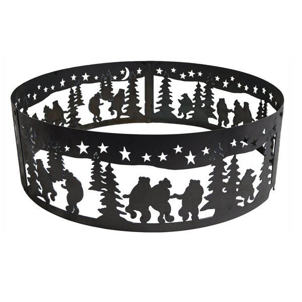 P&D Metal Works Dancing Bear Fire Pit Ring photo