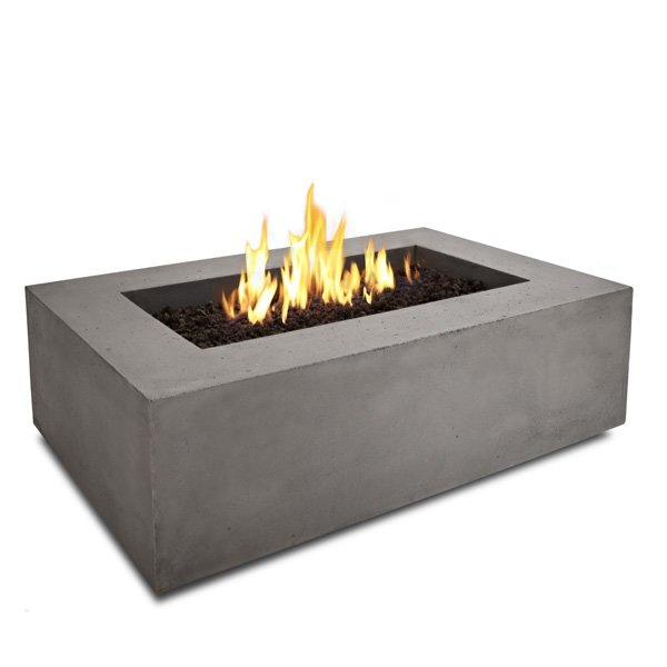 Real Flame T9650LP Baltic Rectangle Propane Fire Table, Glacier Gray photo
