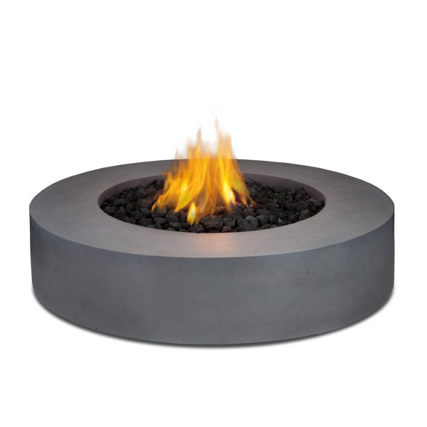 Real Flame Mezzo Round Propane Fire Pit/Table in Flint Gray photo
