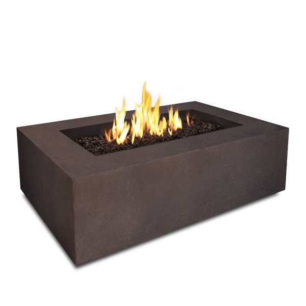 Real Flame Baltic Rectangle Natural Gas Fire Table, Kodiak Brown, 50000 BTU photo