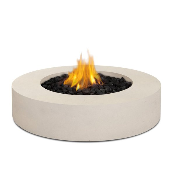 Real Flame Mezzo Round Propane Fire Pit/Table in Antique White photo