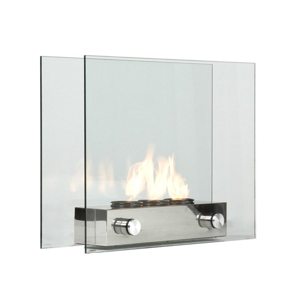 Southern Enterprises Loft Portable Indoor / Outdoor Fireplace photo