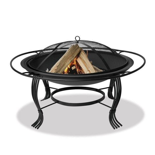 UniFlame 34.6-Inch Diameter Black Fire Pit photo