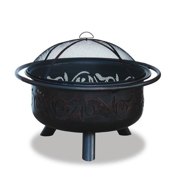 UniFlame WAD900SP Oil Rubbed Outdoor Firebowl with Swirl Design photo