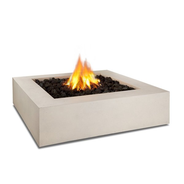 Real Flame Mezzo Square Propane Fire Pit/Table in Antique White photo