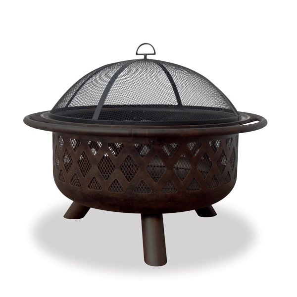 UniFlame WAD792SP Bronze Crossweave Firebowl Fire Pit photo